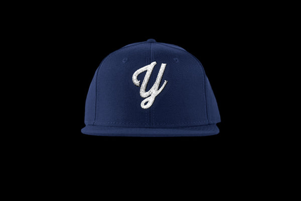 "Young ""Y"" Snap Back Hat (15 color combinations) Navy/White, Headwear - Young Blvd. Apparel, Young Blvd. Apparel  - 5"
