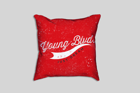 Just Dream Red Signature- Pillow , Home - Young Blvd. Apparel, Young Blvd. Apparel