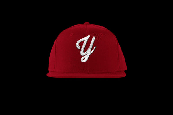 "Young ""Y"" Snap Back Hat (15 color combinations) Red/White, Headwear - Young Blvd. Apparel, Young Blvd. Apparel  - 9"