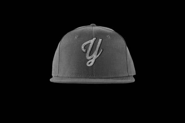 "Young ""Y"" Snap Back Hat (15 color combinations) Charcoal/Silver, Headwear - Young Blvd. Apparel, Young Blvd. Apparel  - 3"