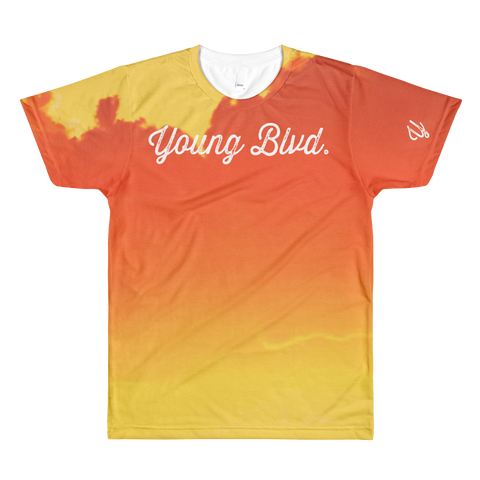 Young Blood Orange AOP Short Sleeve Shirt