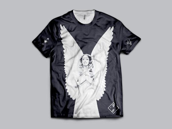 Young Angelic AOP Short Sleeve Shirt , Shirts - Young Blvd Apparel, Young Blvd. Apparel