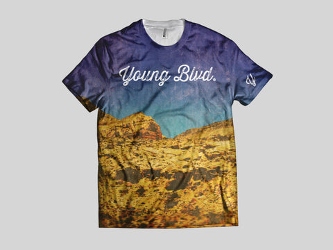 Young Travels AOP Short Sleeve Shirt , Shirts - Young Blvd Apparel, Young Blvd. Apparel  - 1