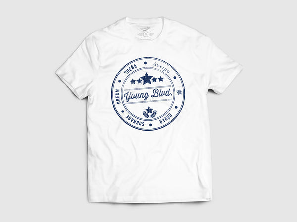 Young World Of Dreams Short Sleeve Shirt (9 Colors) XS / White/Navy, Shirts - Young Blvd Apparel, Young Blvd. Apparel  - 2