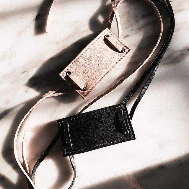 women's leather hair tie