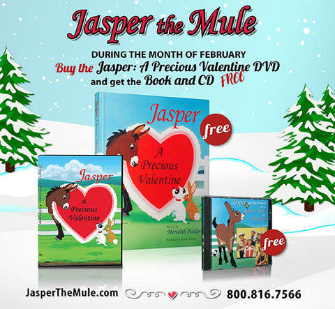 VALENTINE'S SALE! Jasper DVD, Book and Music CD