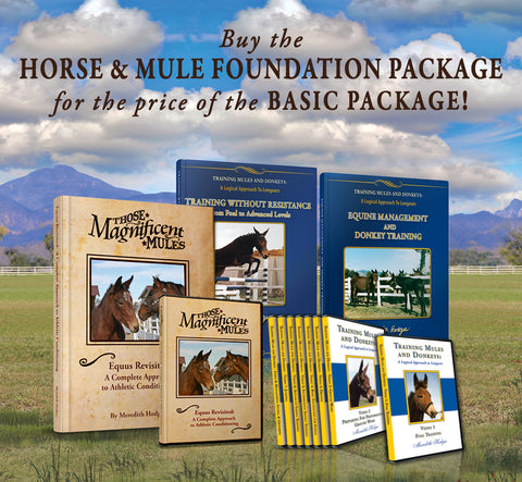 SEPTEMBER SALE! Horse and Mule Foundation Training Package