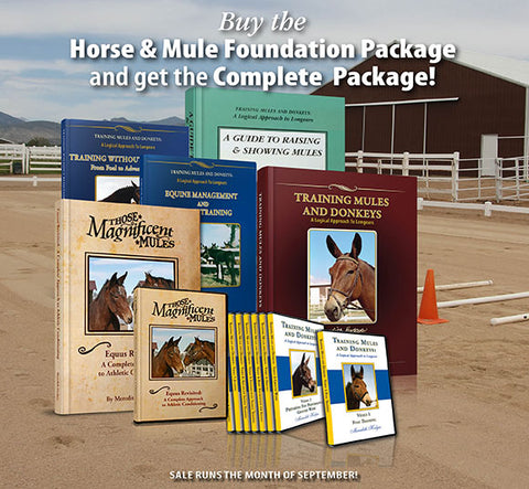 SEPTEMBER SALE! Horse and Mule Complete Training Package for the price of the Foundation Package