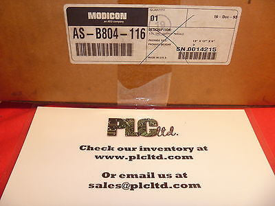 ASB804116 NEW SEALED Modicon 16pt 115VAC Out AS-B804-116