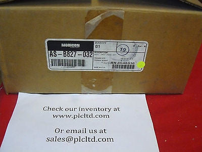 ASB827032 BRAND NEW! Modicon 24 VDC True High Output Module AS-B827-032