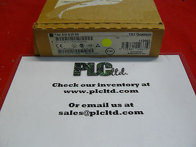 140AVI03000 BRAND NEW Modicon Analog Input Module 140-AVI-030-00