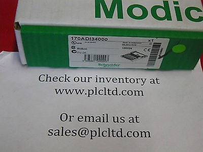 170ADI34000 FACTORY NEW SEALED Modicon I/OBase 170-ADI-340-00