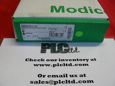 140CPU31110 BRAND NEW. FACTORY SEALED! Modicon CPU 140-CPU-311-10