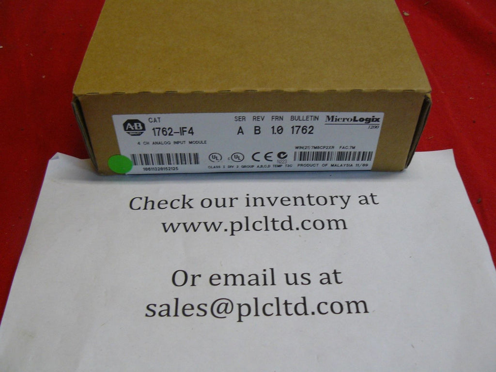 1762IF4 BRAND NEW SEALED! SERIES A MicroLogix 1762-IF4 Allen Bradley
