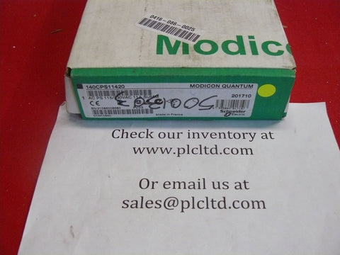 140CPS11420 NEW Modicon AC Power Sply 140-CPS-114-20