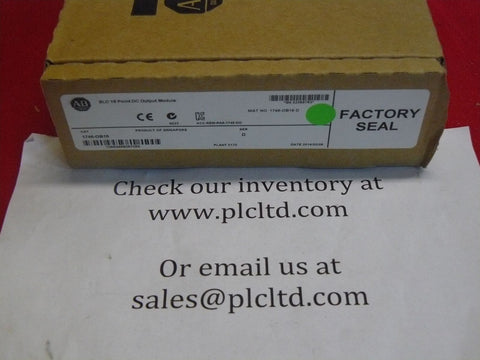 1746OB16 NEW FACTORY SEALED! Allen Bradley SLC 500 SERIES D 1746-OB16