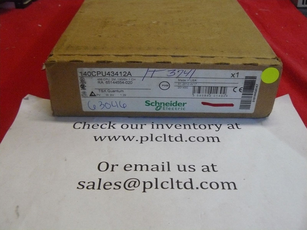 140CPU43412A Brand NEW! Modicon CPU 140-CPU-434-12A 140CPU43412A