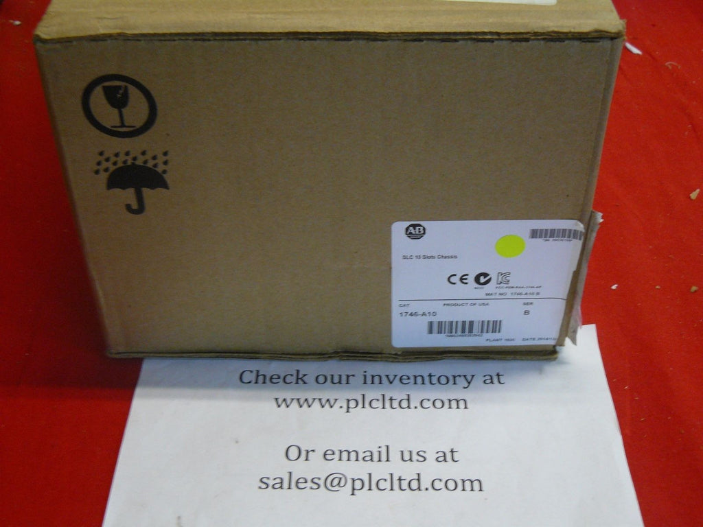 1746A10 BRAND NEW! Allen Bradley SLC 500 10 Rack Chassis 1746-A10