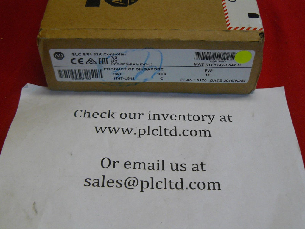 1747L542 BRAND NEW! Allen Bradley SLC 500 Series C Processor 1747-L542