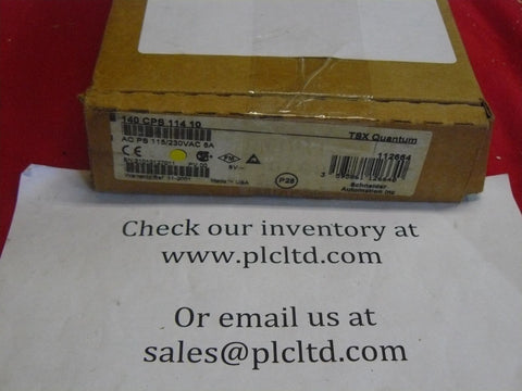 140CPS11410 BRAND NEW! Modicon AC Power Sply 140-CPS-114-10