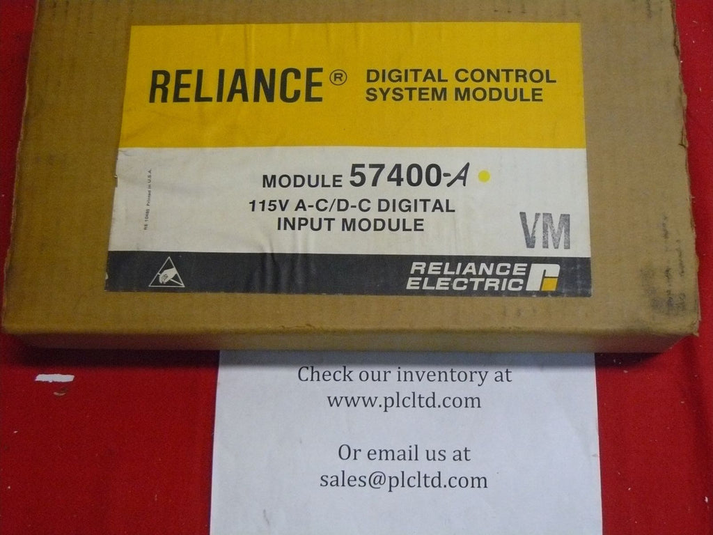 RELIANCE ELECTRIC 115V AC/DC INPUT DIGITAL CONTROL SYSTEM MODULE 0-57400-A