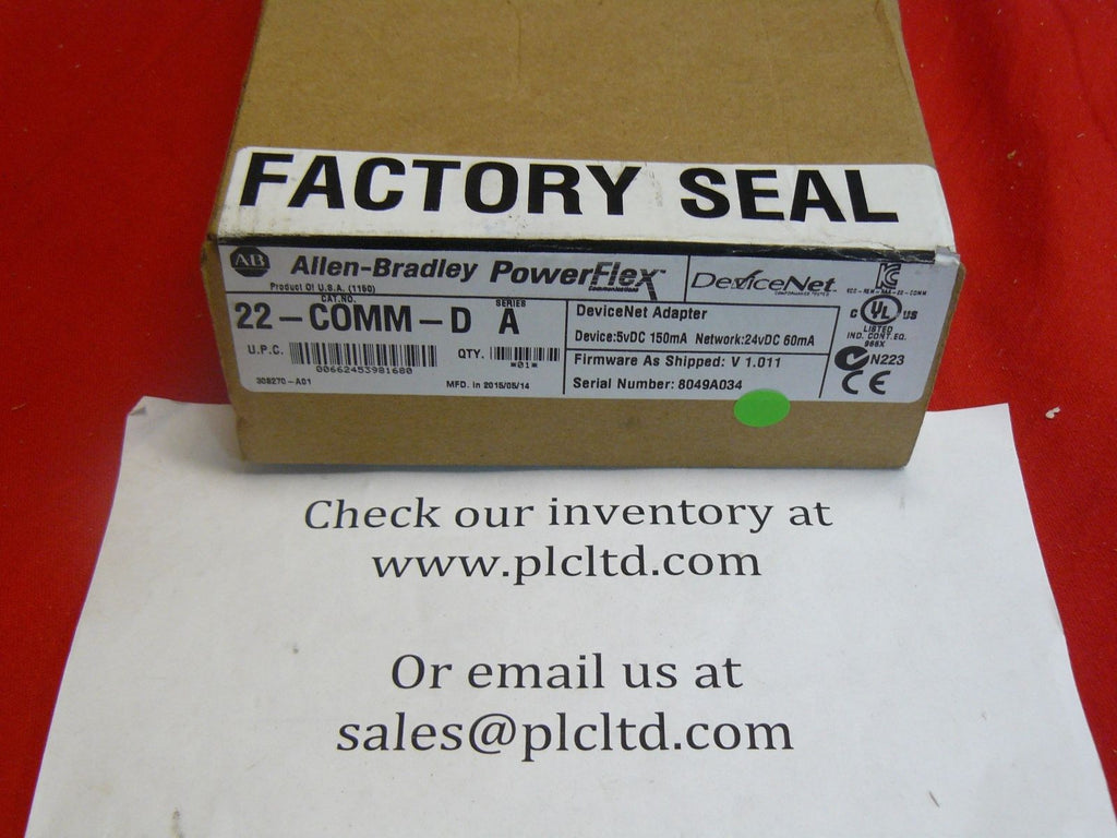 Allen Bradley 22-COMM-D Series A DeviceNet Adapter New Factory Sealed!