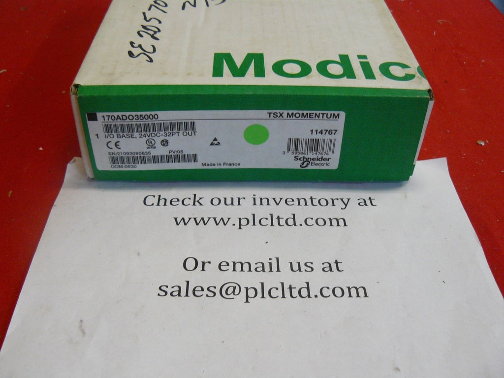 170ADO35000 NEW FACTORY SEALED! Modicon DC Discreet I/O Base 170-ADO-350-00