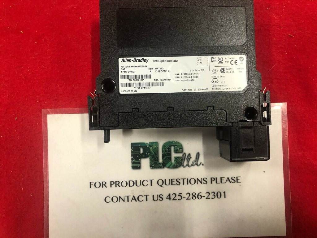 Allen Bradley 1756-OF6CI SER A Isolated Analog Output Module 1756OF6CI