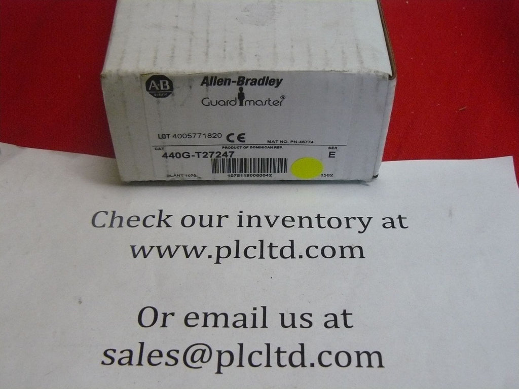 Allen Bradley 440G-T27247 TLS3-GD2 NEW Guard Master Safety Switch