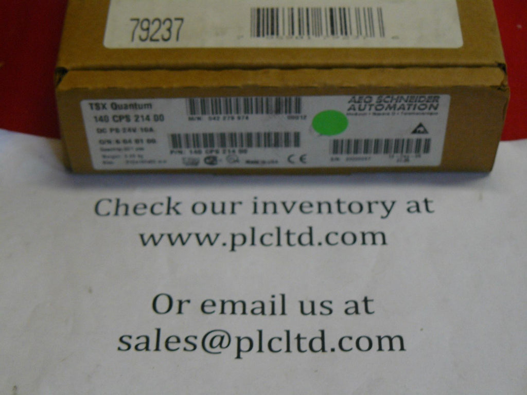 140CPS21400 BRAND NEW SEALED! Modicon Pwr Sply 140-CPS-214-00