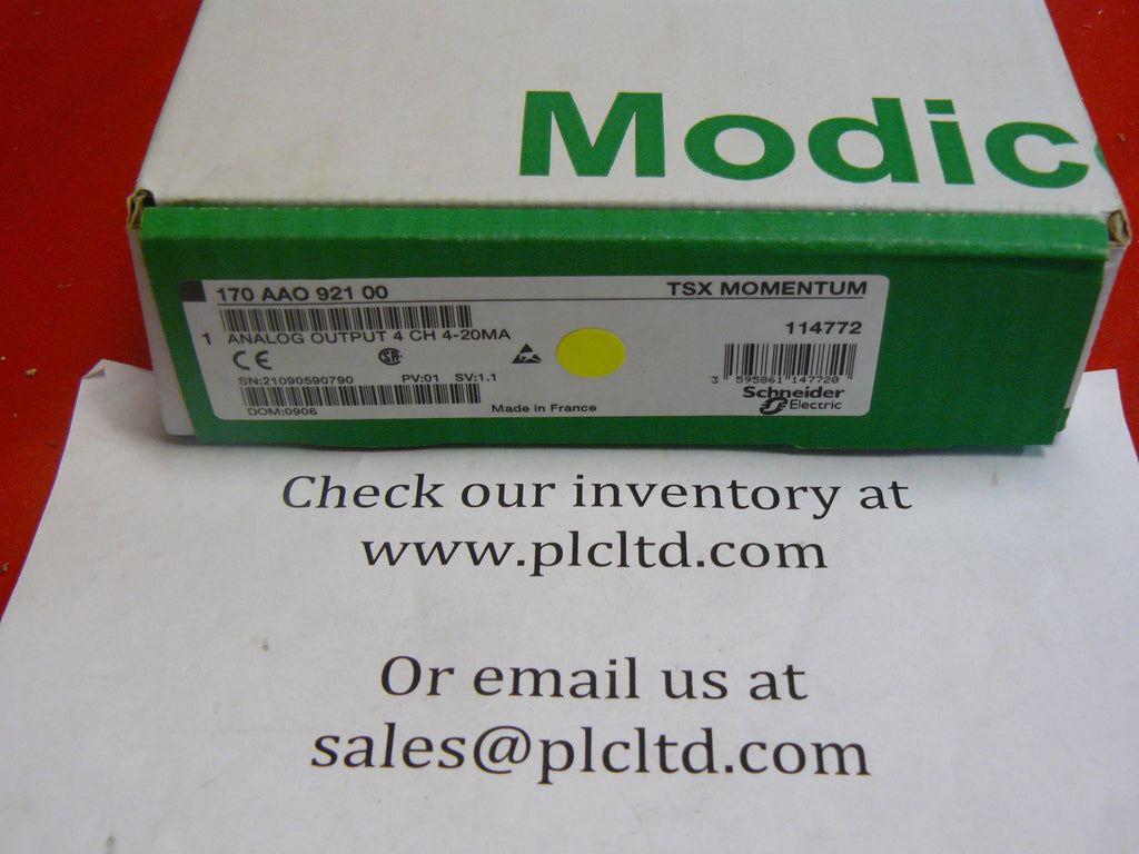 170AAO92100 NEW Modicon Momentum Analog Base 170-AAO-921-00