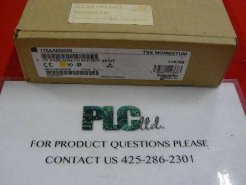 170AAI03000 BRAND NEW Modicon Momentum Analog Base 170-AAI-030-00