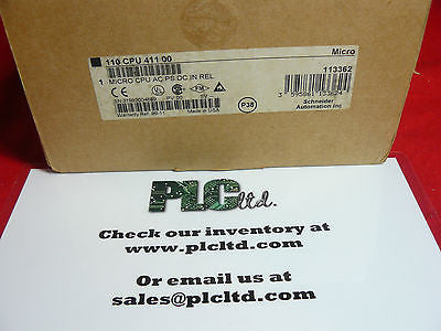 110CPU41100 NEW SEALED Modicon Micro 110-CPU-411-00