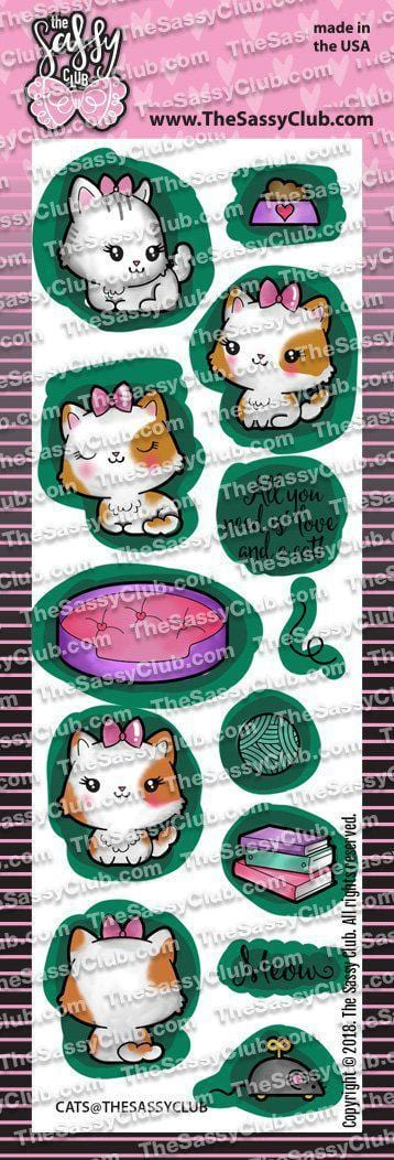 Cats - Clear Stamps by The Sassy Club
