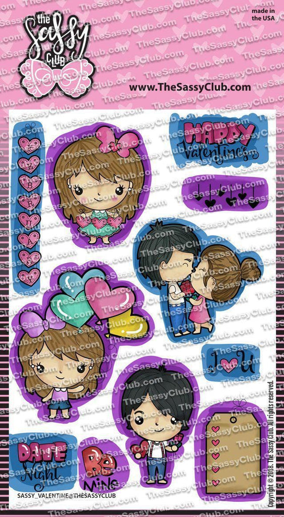Sassy Valentine - Clear Stamps by The Sassy Club