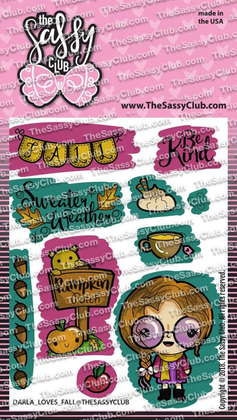 Darla Loves Fall - Clear Stamps by The Sassy Club