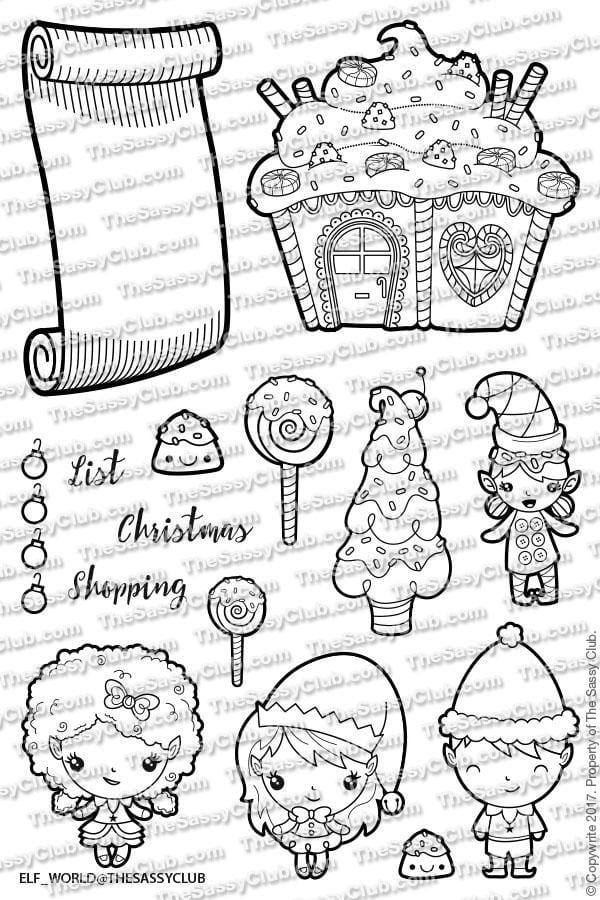 Elf World - Clear Stamps by The Sassy Club