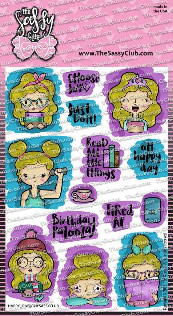 Happy Day - Clear Stamps by The Sassy Club