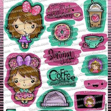 Sassy Bucks Coffee - Clear Stamps by The Sassy Club