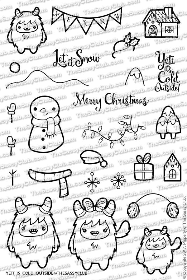 Yeti It's Cold Outside - Clear Stamps by The Sassy Club