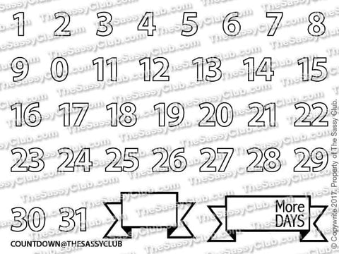 Countdown Planner Stamps