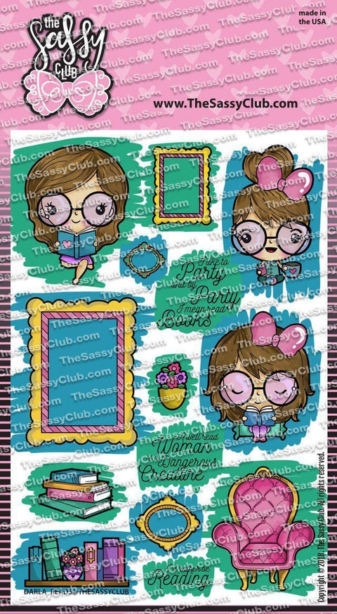 Darla Reads - Clear Stamps by The Sassy Club