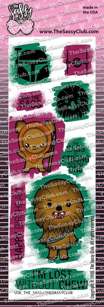 Use the Sass - Clear Stamps by The Sassy Club