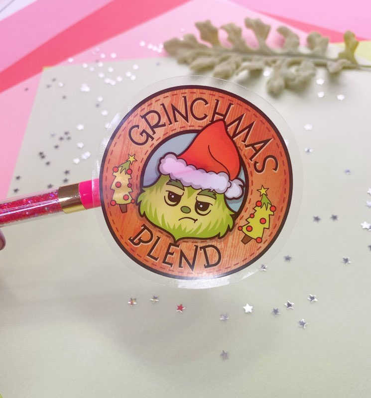 Grinchmas Blend Clear Vinyl Sticker