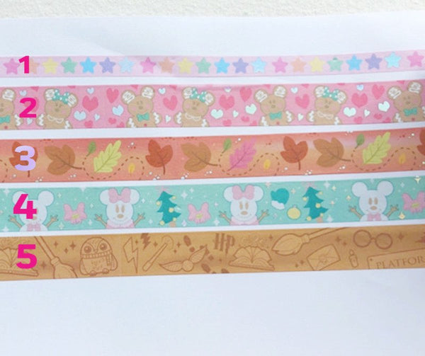 Gingerbread Mouse Washi -  #2 (See Image)