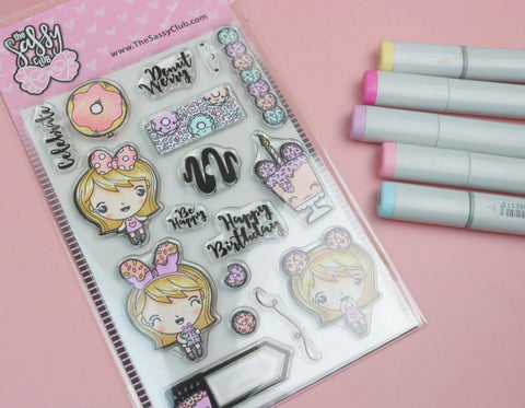 Donut Girl Planner Stamps