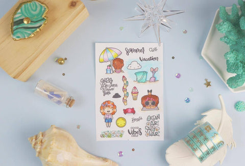 Beach Babe - Clear Stamps by The Sassy Club