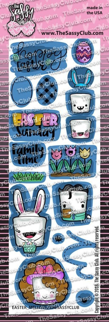 Easter Mellows (Retiring) - Clear Stamps by The Sassy Club
