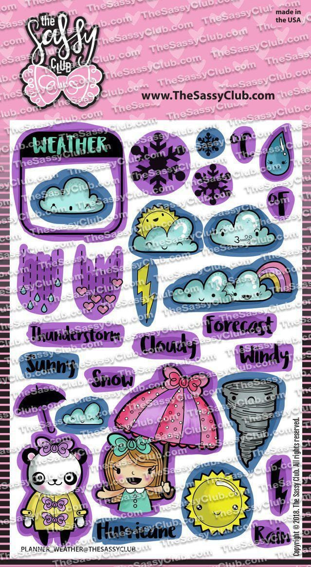 Planner Weather - Clear Stamps by The Sassy Club