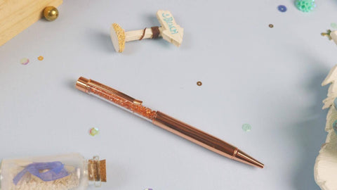 Rose Gold Pen w/ Rose Gold Hardware - Clear Stamps by The Sassy Club